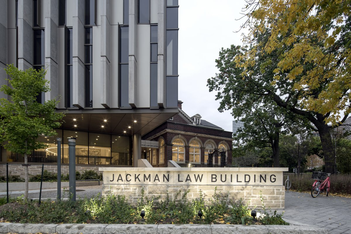 Jackman Law Building entrance